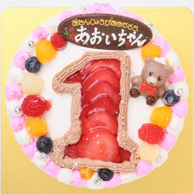 イチゴで数字を表現しちゃったナンバーケーキ