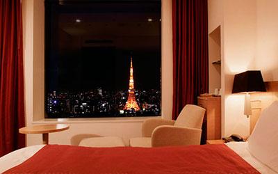 パークホテル東京の東京タワーが見える部屋