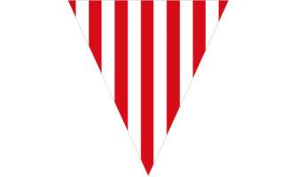 赤と白のストライプ柄のフラッグガーランド素材