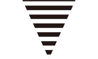 白黒(モノトーン)のストライプ柄フラッグ素材