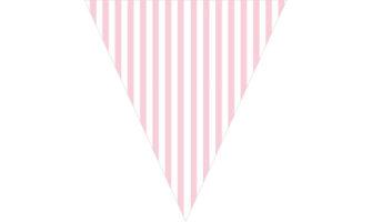 ピンク&ホワイトの縦ストライプ柄フラッグガーランド素材