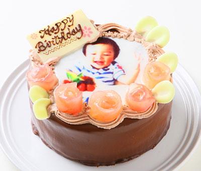 青森県産リンゴ使用!フォトチョコレートケーキ