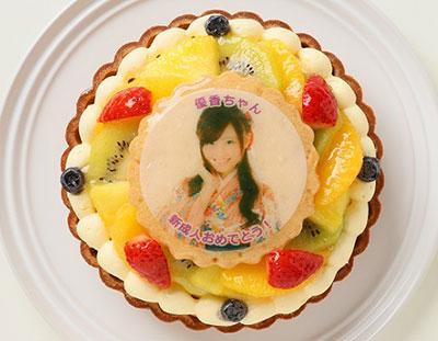 フルーツタルトの写真ケーキ