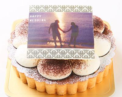 生チョコケーキの写真ケーキ