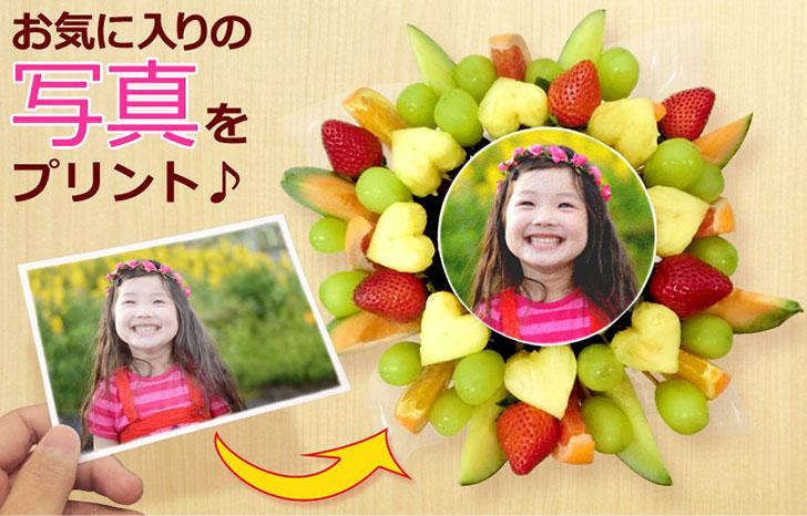 新鮮フルーツいっぱい写真ケーキ