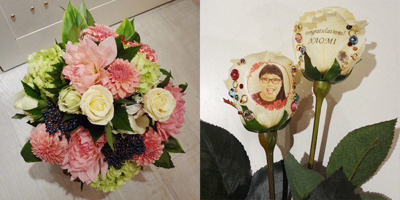 【花に写真プリント】季節のブーケL