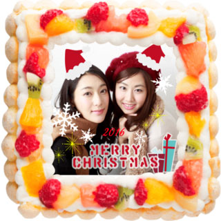 ピクトケーキのクリスマスケーキ