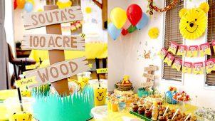くまのプーさんをテーマにしたお誕生会の飾り付けアイデア&アクティビティ