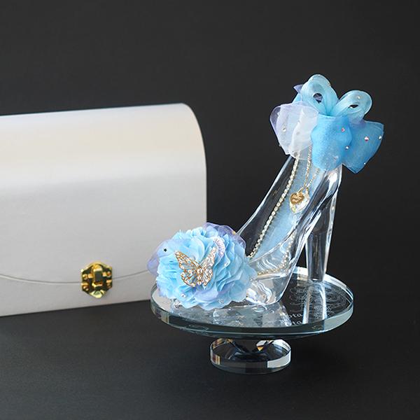 【プロポーズ専用・シンデレラのガラスの靴】プリンセス・ブルー プロポーズギフト