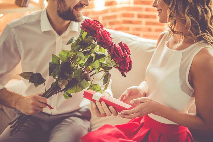 プロポーズをしているシーン