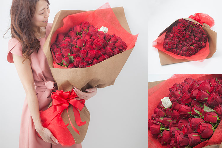 108本のバラの花束 プロポーズプレゼント