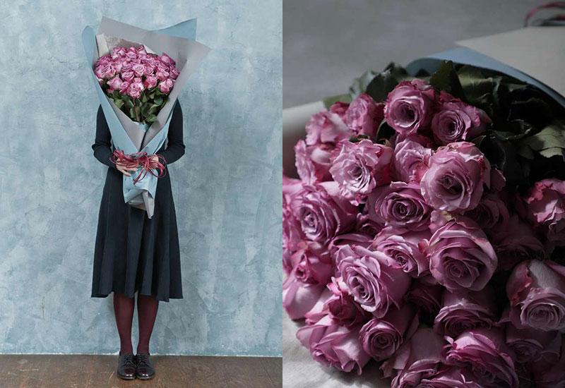 バラ 花束 パープルL(50本入り)
