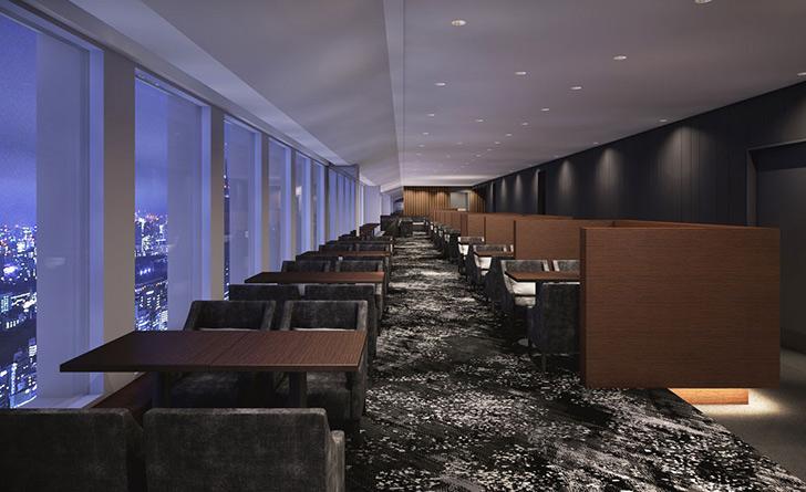 東京都・新宿/デザート スカイラウンジ オーロラ/京王プラザホテルの店内