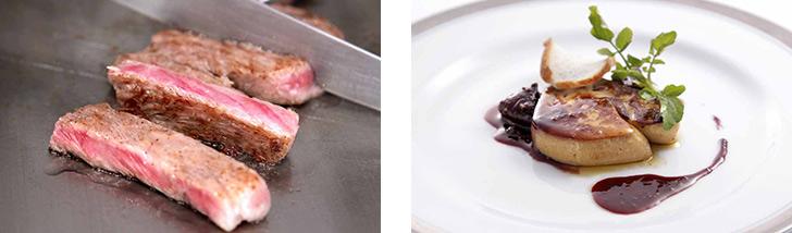 東京都・新宿/鉄板焼き 鉄板焼&ワイン 朱華(ハネズ)の料理 肉