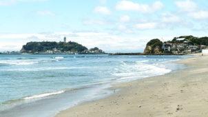 夏の海 湘南 江ノ島