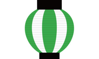 夏祭り風パーティー演出にぴったり! 緑の提灯ガーランド