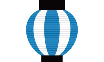 夏祭り風パーティー演出にぴったり! 青の提灯ガーランド