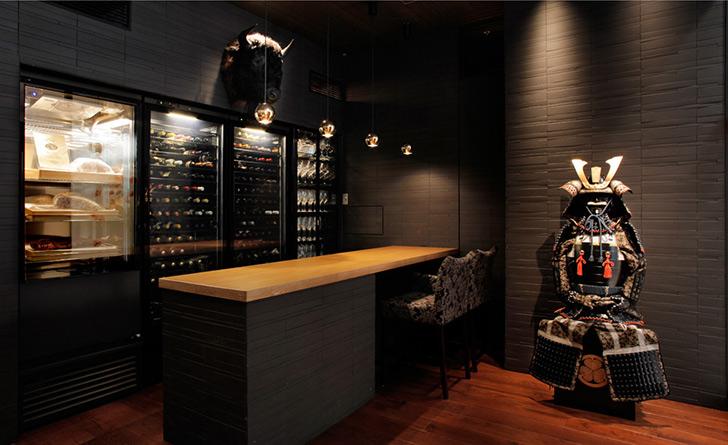 東京都・東京/日本料理・創作和食 SAMURAI dos Premium Steak House 八重洲鉄鋼ビル店の店内