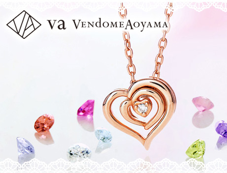 VA Vendome Aoyama JWELL別注ピンクゴールドネックレス