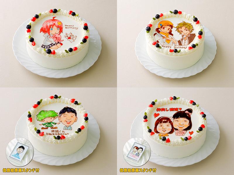 好きなキャラクターを描いてもらえるオーダーメイドのクリスマスケーキ