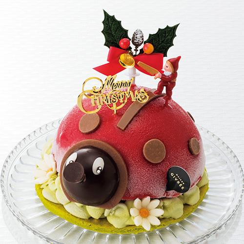 可愛いてんとう虫のクリスマスケーキ メゾンジブレー クリスマス コクシネル