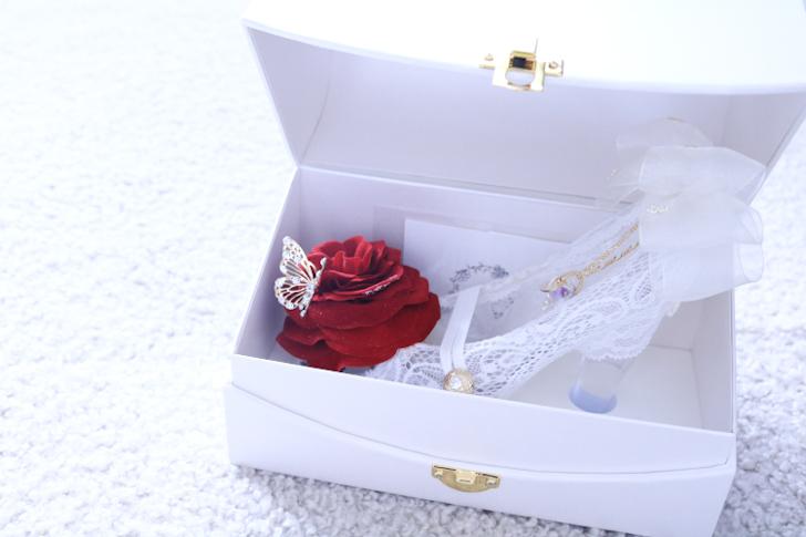 シンデレラのガラスの靴 白いレース
