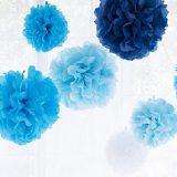 フラワーポムの作り方~お花紙で作るペーパーポンポン~