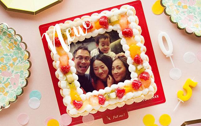 スマホのお気に入り写真でケーキが作れる!サプライズな誕生日ケーキ