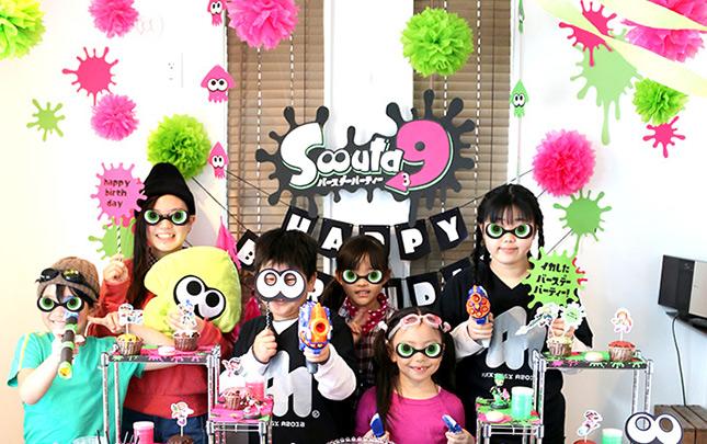 スプラトゥーン2をテーマにした誕生日パーティーデコレーション!