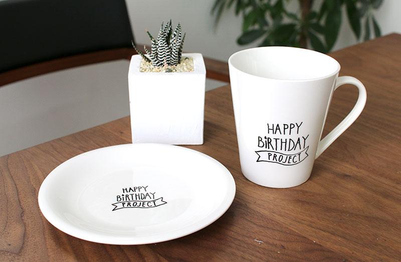 HAPPY BIRTHDAY PROJECTのオリジナルカップ&お皿