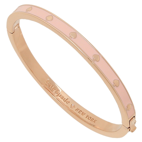 ケイトスペード バングル「ENAMEL HINGED BANGLE BRACELET PINK」