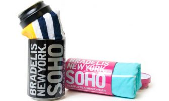 ジュース缶に入ったボクサーパンツのギフト「BRADELIS NewYork. SOHOブラデリスニューヨークソーホー」