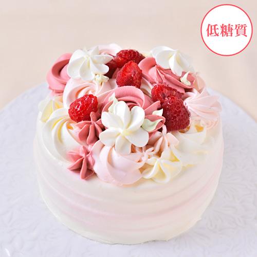アニバーサリー【誕生日】ラズベリーの低糖質ケーキ