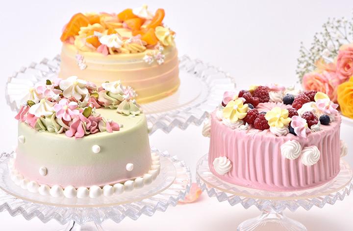 アニバーサリー・オンラインショップのバースデーケーキ