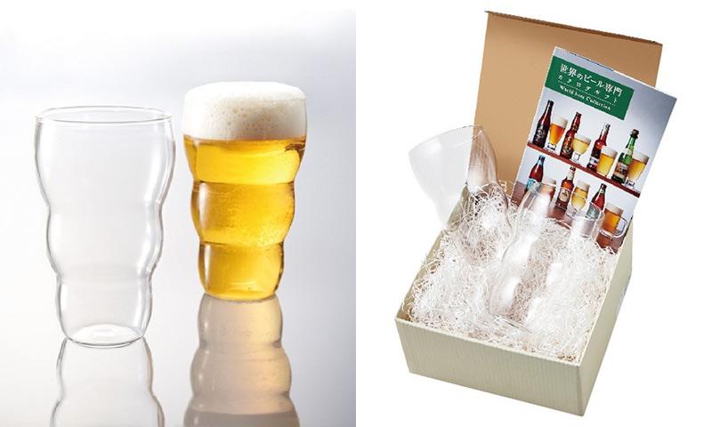 グラス+世界のビール専門カタログギフト お父さんの誕生日プレゼント