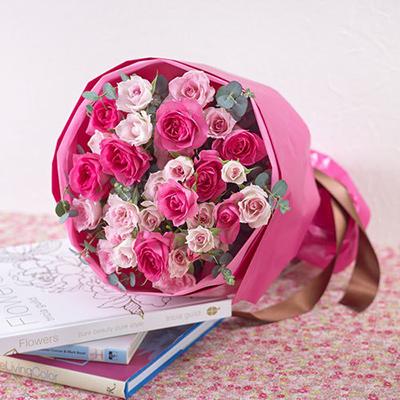 日比谷花壇で定番の誕生日フラワーギフト 花束「ローズ」
