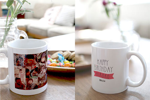 HAPPY BiRTHDAY 思い出いっぱいマグカップ 彼氏のプレゼント