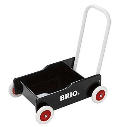 おしゃれなデザインがGOOD!「BRIO 手押し車 (ブラック)」 1歳の誕生日プレゼント