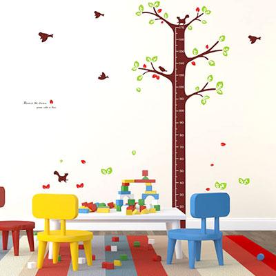 子供の身長が測れるウォールステッカー「木の身長計」 1歳の誕生日プレゼント