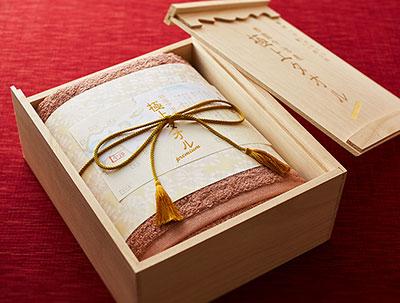 今治産 極上タオル バスタオル(木箱入) パープル 5000円 女性が喜ぶプレゼント