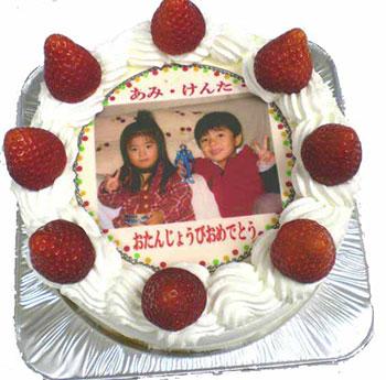 写真ケーキ工房 ハナビシ 苺の写真ケーキ