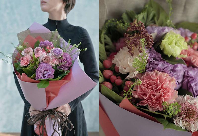 カーネーション 花束 ピンク L ナチュラルブーケ お母さんの誕生日プレゼント 花束