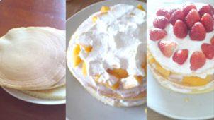 ホットケーキでバースデーケーキを作ってみた!