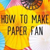 色画用紙を使ってペーパーファンを作ってみよう!