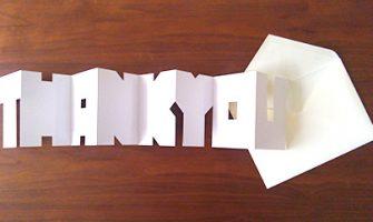 「THANK YOU」メッセージカード ホワイトデー手作りカード