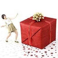 玄関開けてびっくり!巨大プレゼント箱サプライズ