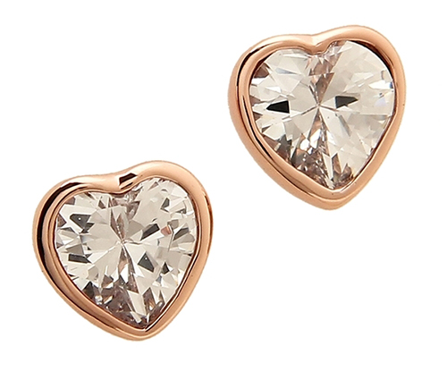 ケイトスペード ピアス「ROMANTIC ROCKS STUDS CLEAR/ROSE GOLD」