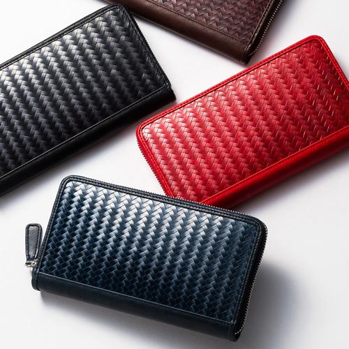 竹×漆×革の色っぽさにしびれる!  ラグジュアリーな「網代編み財布」