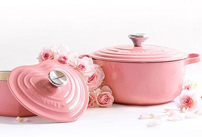 ルクルーゼ 鍋 ピンク「フレンチローズ」お母さんのプレゼント