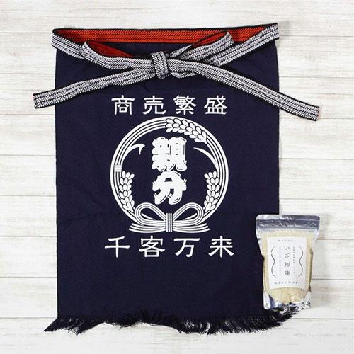 宮城県丸森町産ブランド米『いざ初陣』& 帆前掛けセット